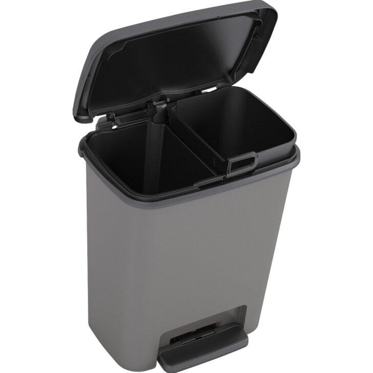 Medium Size of Tret Mlleimer Compatta Mit Inneneimern 2 11 L Kaufen Bei Obi Doppelblock Küche Doppel Mülleimer Einbau Wohnzimmer Doppel Mülleimer