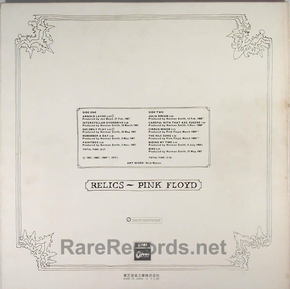 Full Size of Pink Floyd Relics Original Red Vinyl Japan Lp With Obi Rare Fenster Küche Nobilia Mobile Vinylboden Einbauküche Immobilien Bad Homburg Im Regale Verlegen Wohnzimmer Vinylboden Obi
