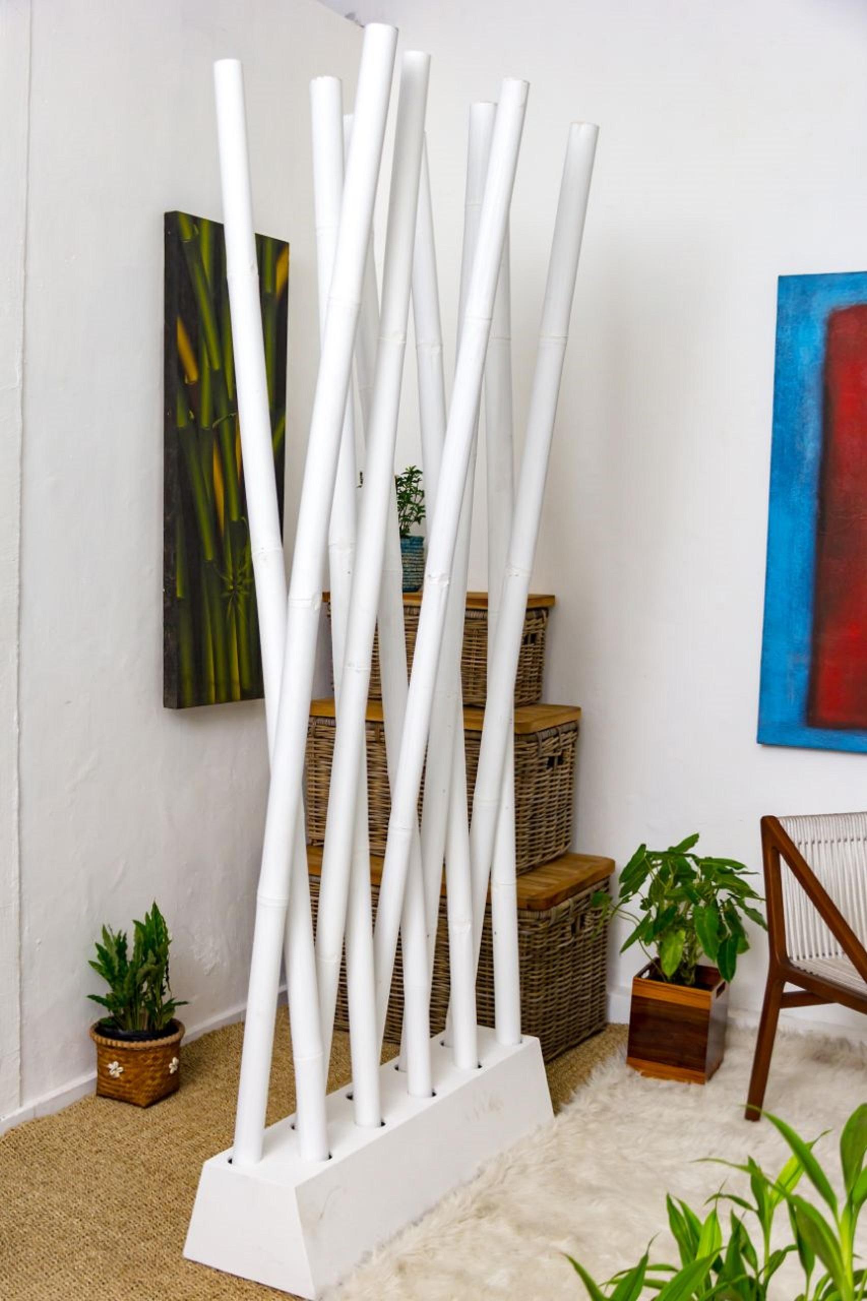 Full Size of Paravent Bambus Raumteiler Paravento Wei Cab97xh200cm Sichtschutz Bett Garten Wohnzimmer Paravent Bambus