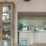 Küche Boden Bildbeispiel Zementmosaikfliesen An Wand Und In Der Kche Via Anrichte Schrankküche Landhausküche Grau Poco Glasbilder Bodenbelag Niederdruck Wohnzimmer Küche Boden