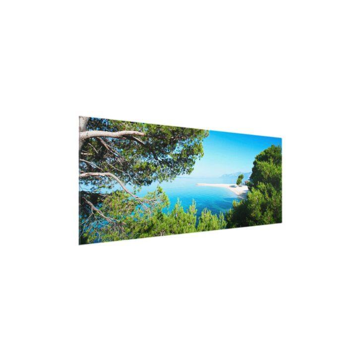 Medium Size of Glasbild 120x50 Hidden Paradise Panorama Quer Glasbilder Küche Bad Wohnzimmer Glasbild 120x50