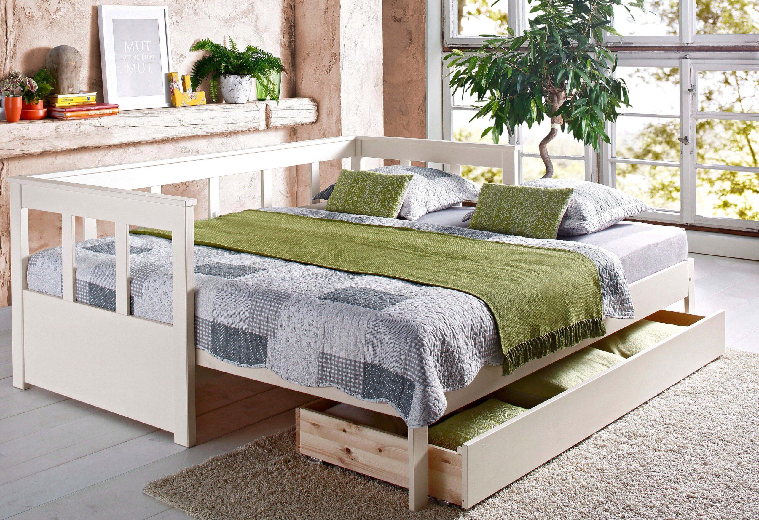 Full Size of Ausziehbares Doppelbett Ikea Ausziehbare Doppelbettcouch Home Affaire Daybett Aira Bestellen Baur Bett Wohnzimmer Ausziehbares Doppelbett