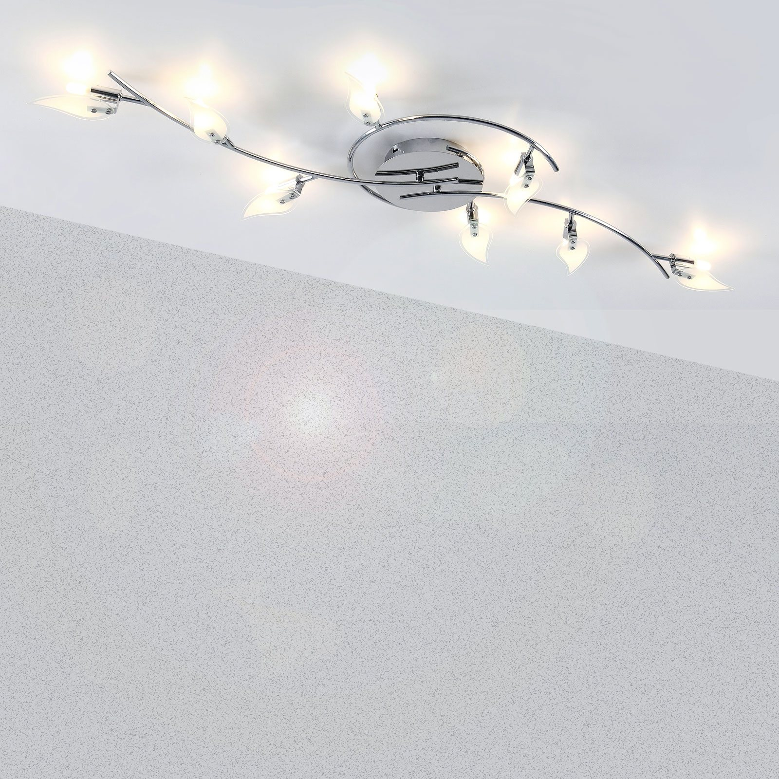 Full Size of Moderne 8 Flammige Deckenlampe Im St Form Design Wohnzimmer Deckenleuchte Landhausküche Tapete Küche Modern Schlafzimmer Deckenlampen Bilder Fürs Modernes Wohnzimmer Deckenlampe Modern