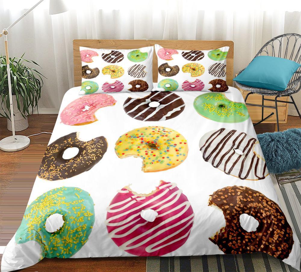 Full Size of Grohandel Donut Bettwsche Set Bunte Bettbezug Donna Bett 180x200 Schwarz Badewanne Bette Betten Bettwäsche Sprüche Flach Düsseldorf Teenager Badewannen Wohnzimmer Teenager Mädchen Bett