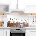 Küchen Glasbilder Wohnzimmer Glas Spritzschutz Hinter Dem Herd Mit Kaffeebohnen Star Glasbilder Küche Bad Küchen Regal