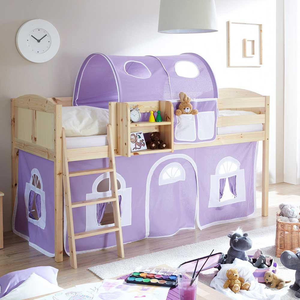 Full Size of Mädchenbetten Mdchenbett Keuna Aus Kiefer Massivholz Mit Tunnel In Lila Wei Wohnzimmer Mädchenbetten