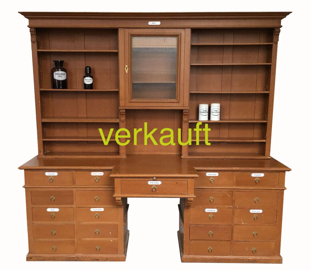 Large Size of Mit Tren Edeltrdel Antike Mbel Apothekerschrank Küche Wohnzimmer Apothekerschrank Halbhoch