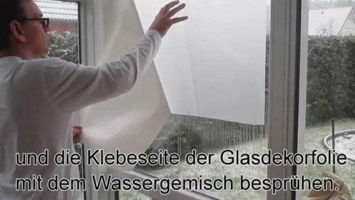 Medium Size of Splitterschutzfolie Hornbach Fensterfolie Anbringen Trick Youtube Wohnzimmer Splitterschutzfolie Hornbach