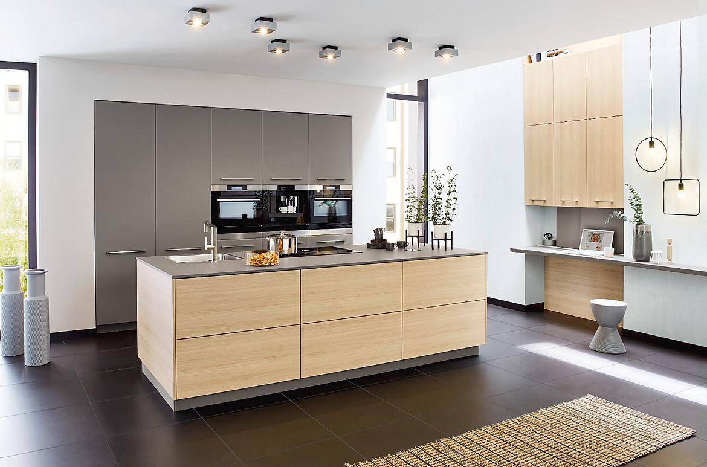Full Size of Ballerina Küchen Grifflose Moderne Kche Mit Kochinsel Regal Wohnzimmer Ballerina Küchen