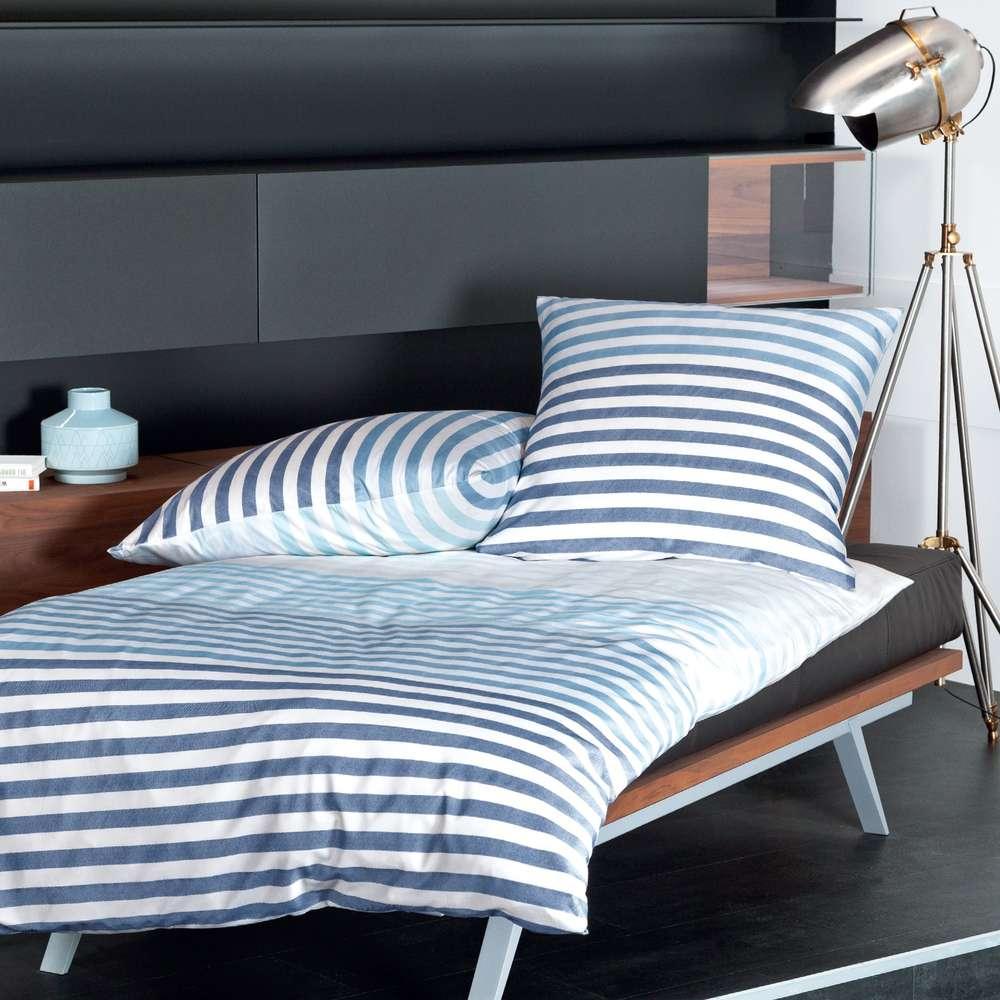 Full Size of Mako Satin Bettwsche Maritim Gestreift 155x220 Von Nautic Home Bettwäsche Sprüche Wohnzimmer Bettwäsche 155x220