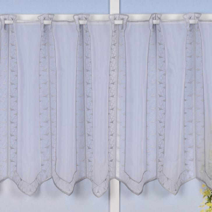 Medium Size of Scheibengardine Industrial Stickerei Panneaubistrogardine Transparent Und Esstisch Küche Scheibengardinen Wohnzimmer Scheibengardine Industrial