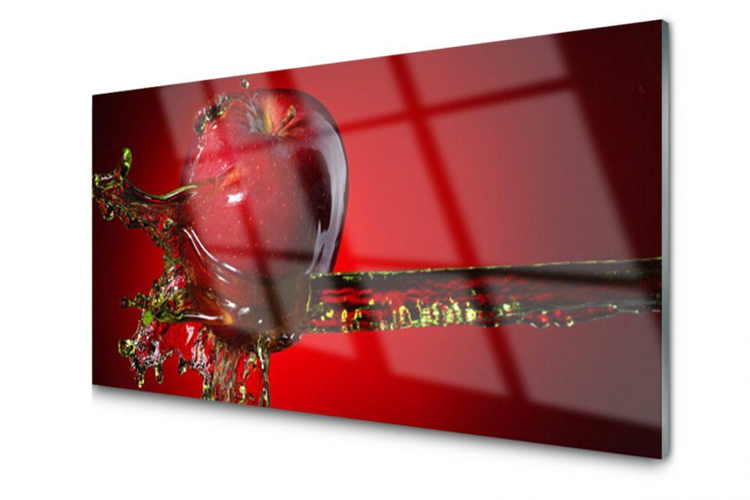 Full Size of Glasbilder Kche Obi Glasbild Apfel Spritzschutz Peperoni Küche Küchen Regal Bad Wohnzimmer Küchen Glasbilder