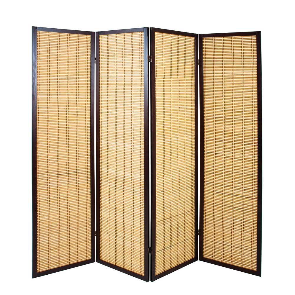 Full Size of Paravent Bambus 4 Teiliger Acaso Aus Pharao24de Garten Bett Wohnzimmer Paravent Bambus