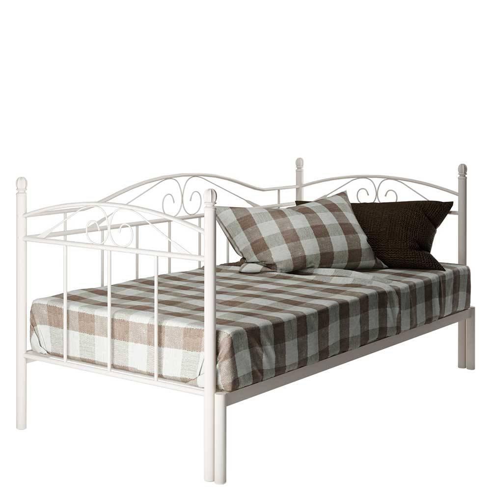 Full Size of Ausziehbares Doppelbett Ikea Ausziehbare Doppelbettcouch Weies Metall Bett Ausziehbar Von 90x200 Auf 180x200 Cm Enjessa Wohnzimmer Ausziehbares Doppelbett