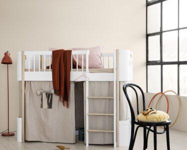Halbhohes Hochbett Wohnzimmer Halbhohes Hochbett Oliver Furniture Wood Mini Wei Eiche Bett