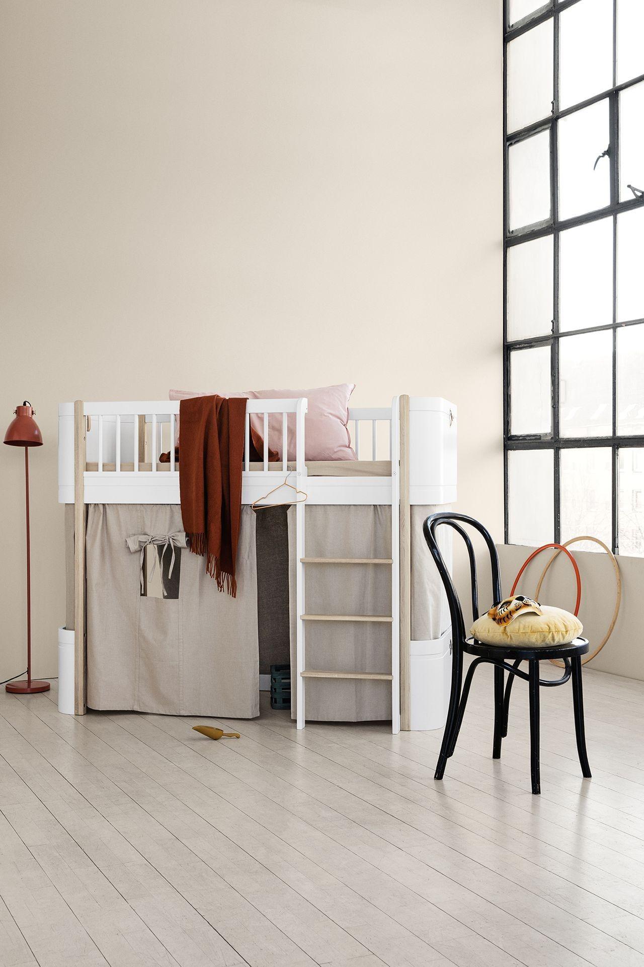 Full Size of Halbhohes Hochbett Oliver Furniture Wood Mini Wei Eiche Bett Wohnzimmer Halbhohes Hochbett