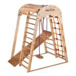 Kidwood Klettergerüst 1 Klettergerst Rakete Junior Set Aus Holz Fr Indoor Garten Wohnzimmer Kidwood Klettergerüst