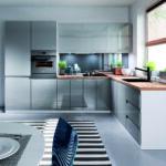 Miele Komplettküche Kche Kchenzeile Grifflos Grau Wei Glanz Real Küche Wohnzimmer Miele Komplettküche