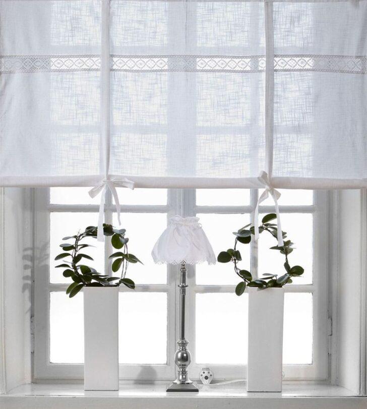 Medium Size of Küchen Raffrollo Julia Weiss 160x120cm Vorhang Raffgardine Landhaus Regal Küche Wohnzimmer Küchen Raffrollo