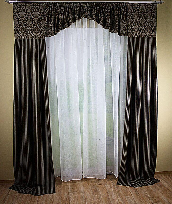 Medium Size of Fenster Deko Aus Jacquard Mit Querbehang Gardinen Decowunder Für Die Küche Scheibengardinen Bogenlampe Esstisch Wohnzimmer Schlafzimmer Wohnzimmer Bogen Gardinen