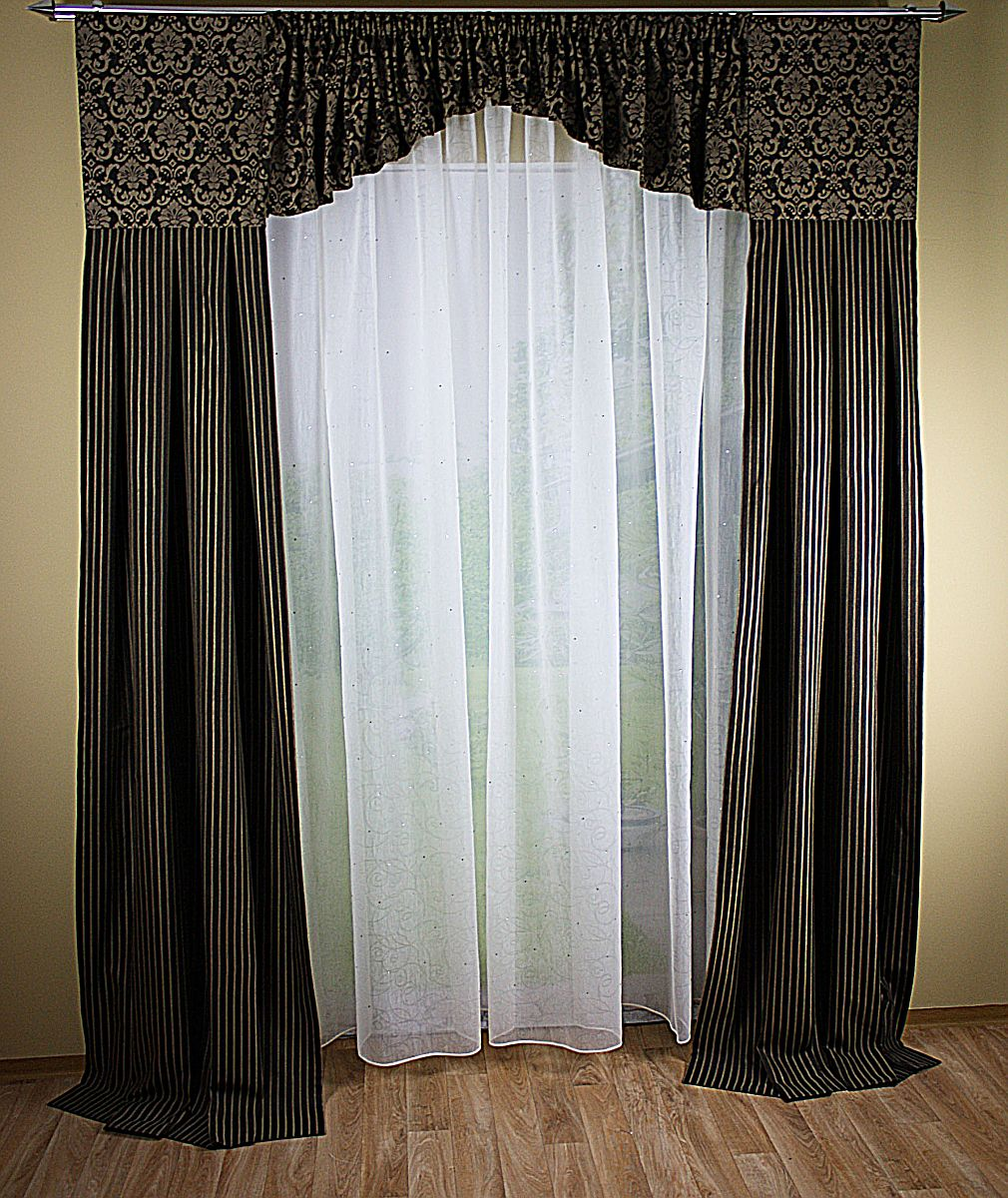 Full Size of Fenster Deko Aus Jacquard Mit Querbehang Gardinen Decowunder Für Die Küche Scheibengardinen Bogenlampe Esstisch Wohnzimmer Schlafzimmer Wohnzimmer Bogen Gardinen