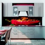 Wohnzimmer Küchenblende