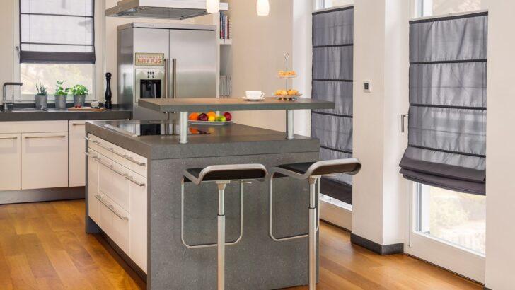 Medium Size of Raffrollo Klemmfitop Küche Küchen Regal Wohnzimmer Küchen Raffrollo