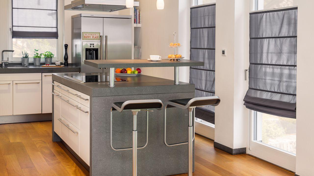 Full Size of Raffrollo Klemmfitop Küche Küchen Regal Wohnzimmer Küchen Raffrollo
