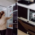 Offene Küche Ikea Miniküche Bodenfliesen Granitplatten Industriedesign Nischenrückwand Werkbank Industrielook Regal Müllsystem Salamander Klapptisch Bank Wohnzimmer Offene Küche Ikea