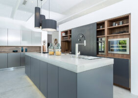 Küche Grau Betonoptik
