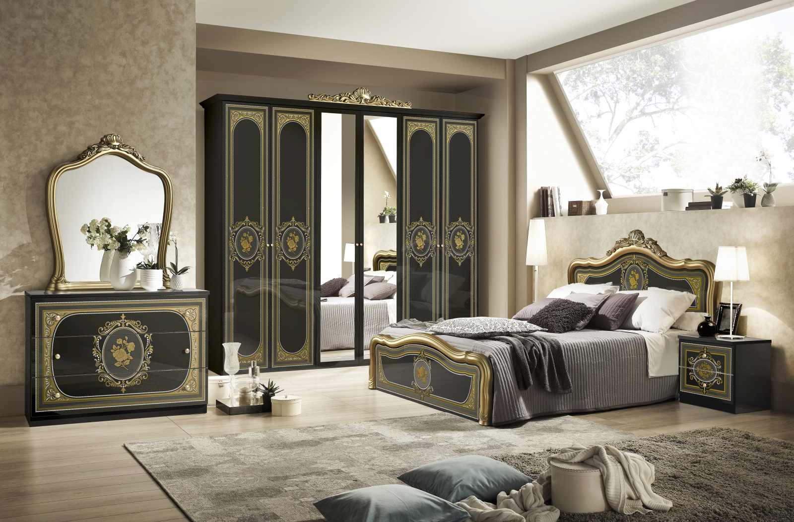 Full Size of Roller Schlafzimmer 6 Teiliges Alice Schwarz Hochglanz Gold Online Gardinen Regal Rauch Romantische Regale Loddenkemper Wandtattoos Deckenlampe Truhe Günstige Wohnzimmer Roller Schlafzimmer