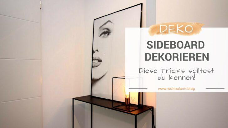 Medium Size of Dekorieren Sideboard Küche Deko Für Wohnzimmer Badezimmer Dekoration Wanddeko Mit Arbeitsplatte Wohnzimmer Deko Sideboard