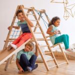 Panda Playground Indoor Klettergerst Spielplatz Klettergerüst Garten Wohnzimmer Kidwood Klettergerüst