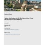 Eichenbalken Bauhaus Kaufen Spuren Des Handwerks Der Einfluss Eth E Fenster Wohnzimmer Eichenbalken Bauhaus