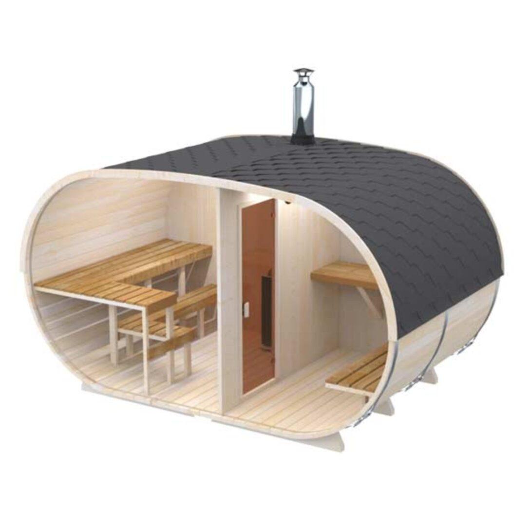 Large Size of Groe Ovale Fasssauna Direkt Vom Hersteller Saunaffr 6 Wohnzimmer Gartensauna Bausatz