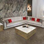 Großes Ecksofa Wohnzimmer Großes Ecksofa Groes Idfdesign Bett Sofa Bezug Mit Ottomane Regal Garten Bild Wohnzimmer
