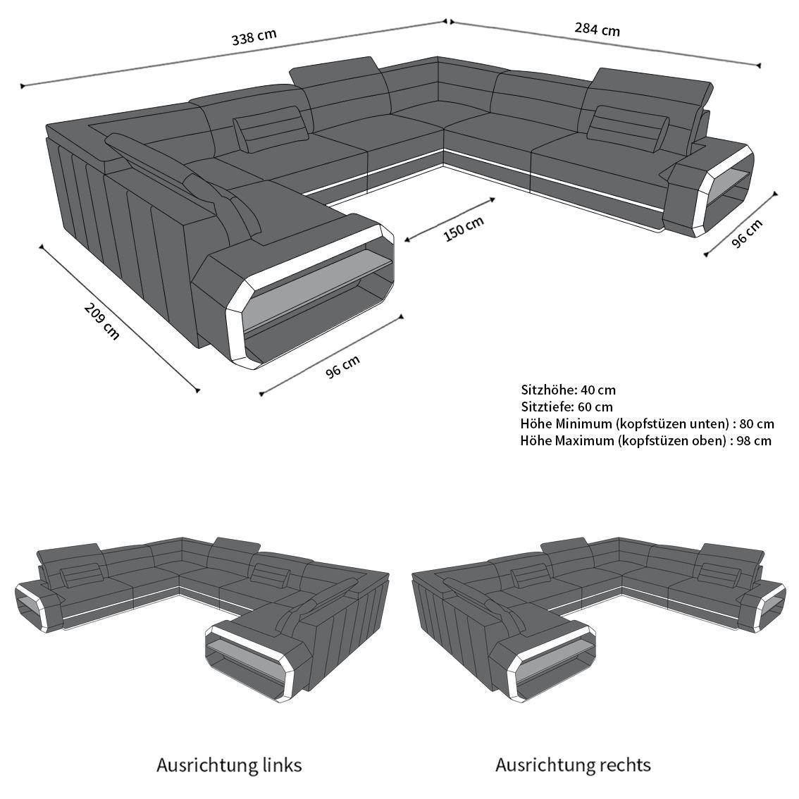 Full Size of Sofabezug U Form Wohnlandschaft Sofa Couch Schlaffunktion Ecksofa Verona In L Mit Abnehmbaren Bezug Dusche Kaufen Bett 180x200 Komplett Lattenrost Und Matratze Wohnzimmer Sofabezug U Form