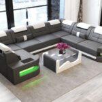 Sofabezug U Form Couch Como In Leder Mit Led Beleuchtung Ebenerdige Dusche Deckenleuchte Schlafzimmer Holz Alu Fenster Preise überdachung Garten Bad Wohnzimmer Sofabezug U Form