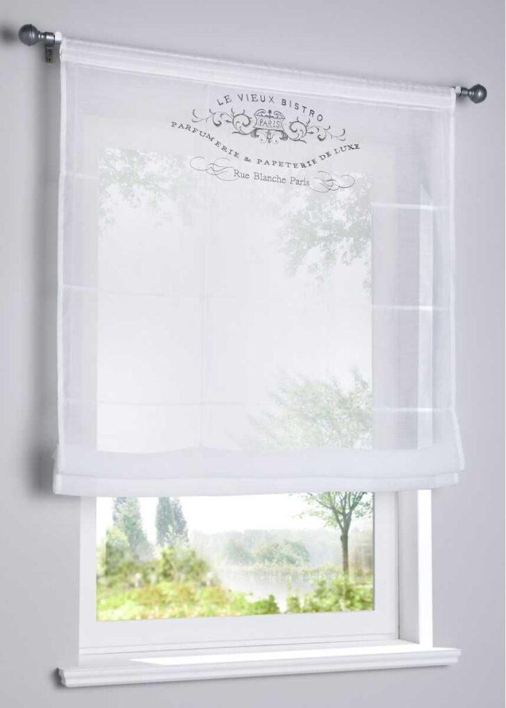 Medium Size of Küchen Raffrollo Transparentes Mit Stickerei Bildern Regal Küche Wohnzimmer Küchen Raffrollo