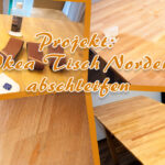 Bartisch Selber Bauen Ikea Projekt Tisch Norden Abschleifen Unser Kreativblog Küche Planen Neue Fenster Einbauen Sofa Mit Schlaffunktion Bett 180x200 Kosten Wohnzimmer Bartisch Selber Bauen Ikea