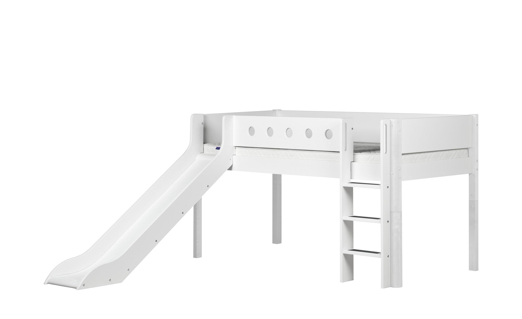 Full Size of Flexa Halbhohes Bett Mit Rutsche 90x200 Wei White Wohnzimmer Halbhohes Hochbett