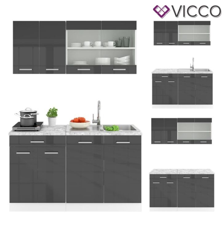 Medium Size of Real Küchen Vicco Kche 270 Cm Kchenzeile Kchen Hochschrank 60 Bianca Wei Regal Wohnzimmer Real Küchen