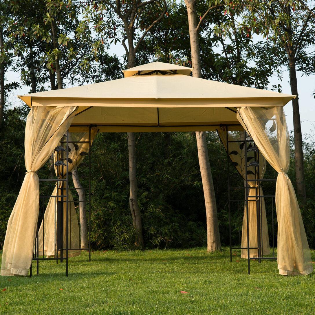 Large Size of Pavillon Terrasse Bauhaus Terrassen Winterfest Test Garten Living 300 Cm Villanueva Aus Wohnzimmer Terrassen Pavillon