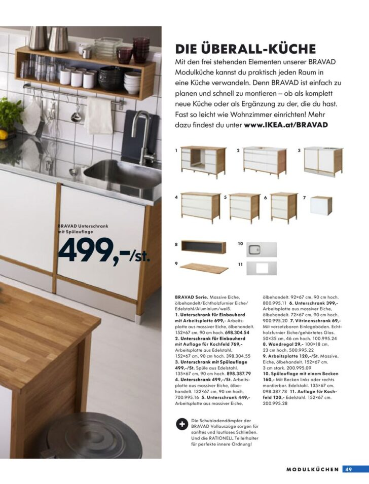 Medium Size of Seite 47 Von Kchen 2009 Betten Ikea 160x200 Küche Kosten Modulküche Kaufen Miniküche Sofa Mit Schlaffunktion Bei Holz Wohnzimmer Ikea Modulküche Bravad