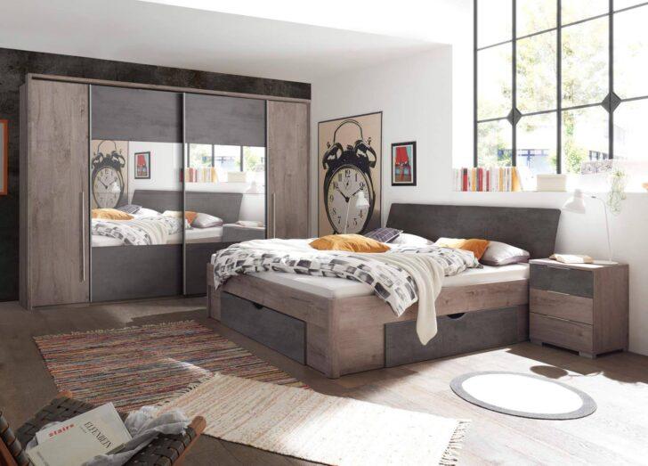 Medium Size of Schlafzimmer Komplett Set 4 Teilig Haveleiche Gnstig Online Kronleuchter Dusche Fototapete Komplettes Schrank Kommode Weiß Bett Günstig Romantische Gardinen Wohnzimmer Schlafzimmer Komplett