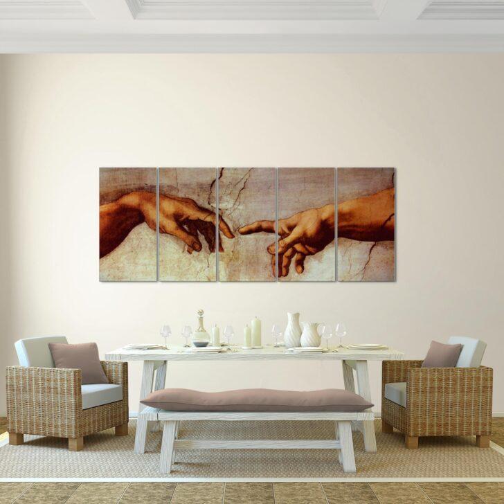 Medium Size of Wohnzimmer Wandbilder Leinwand Bild Michelangelo Schaffung Von Adam Xxl Landhausstil Led Deckenleuchte Vinylboden Vitrine Weiß Lampe Deko Deckenleuchten Wohnzimmer Wohnzimmer Wandbilder