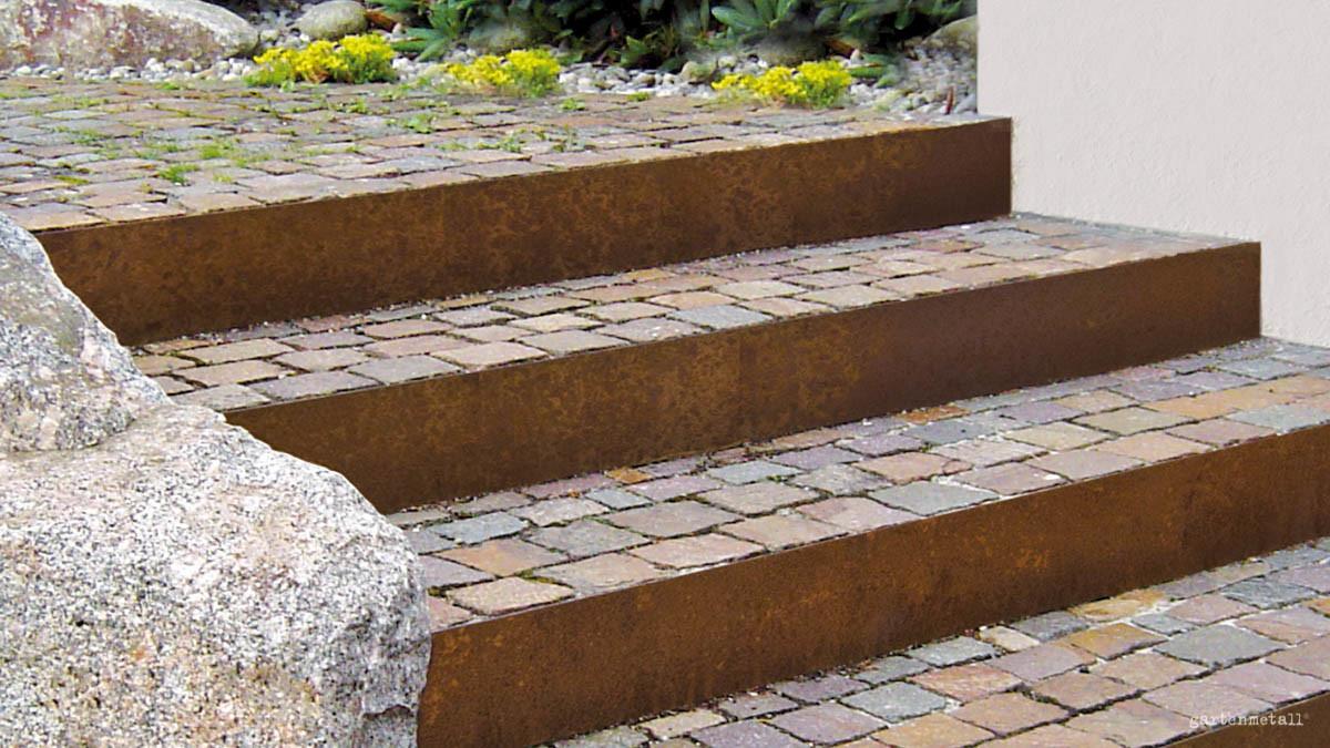 Full Size of Holzlege Cortenstahl Scala Gartentreppen Aus Metall Wohnzimmer Holzlege Cortenstahl