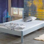 Metallbett 100x200 Wohnzimmer Metallbett 100x200 Bed Bomia 1013 Silberfarbig Mbel Letz Ihr Online Bett Weiß Betten