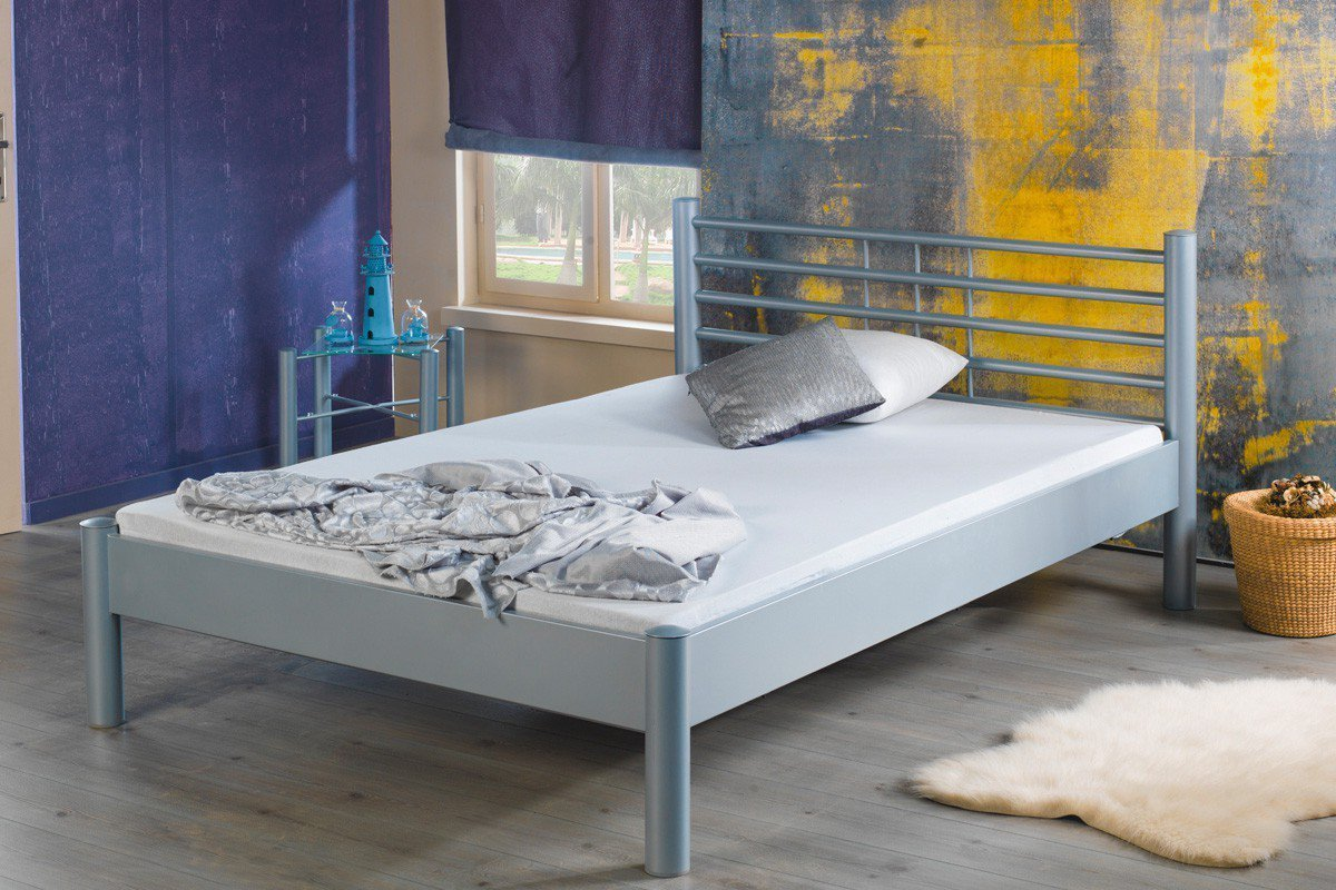 Full Size of Metallbett 100x200 Bed Bomia 1013 Silberfarbig Mbel Letz Ihr Online Bett Weiß Betten Wohnzimmer Metallbett 100x200