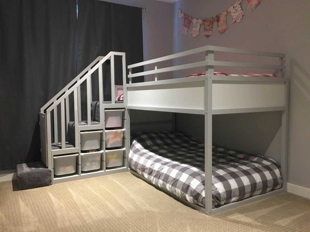 Full Size of Ikea Kura Hack Floor Bed Storage Drawers Montessori Bunk For Two Toddlers Hackers Wohnzimmer Kura Hack